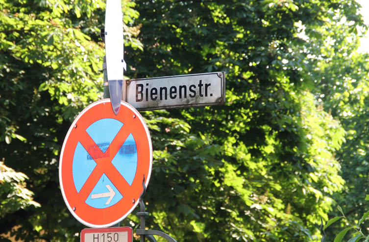 Bienenstraße - Straßenschild